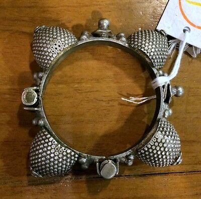 ethnic tribal old silver spike bangle bracelet antique jewelry