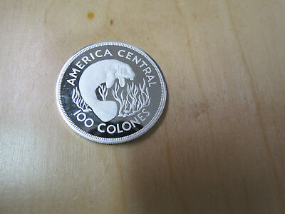 1974 Cost Rica Silver Proof 100 Colones Manatee .925 only 11,000 minted