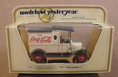 1978 Models of Yesteryear Coca-Cola Truck 1912 Ford Model T Matchbox Lesney