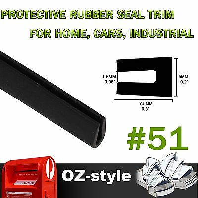 Universal Black Rubber Seal Strip 1.5mm Opening Home Door Edge Edging Guards 10M