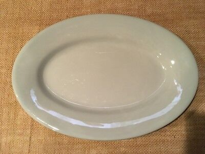 "VINTAGE BUFFALO CHINA BLUE LUNE PATTERN 13"" x 9"" RESTAURANT/DINER"