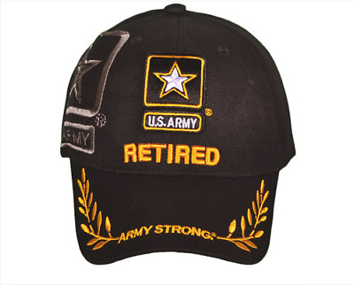 US Army Retired Army Strong Logo Military Baseball Cap Embroidered Baseball Cap