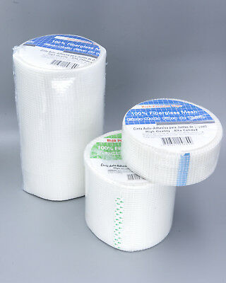 White Fiberglass Drywall Joint Mesh Tapes Self-Adhesive Plastering Wall Repair