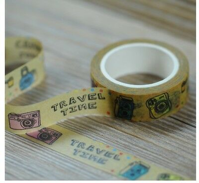Travel time 1.5cm X 7m Washi Tape DIY Scrapbook Album Diary - m