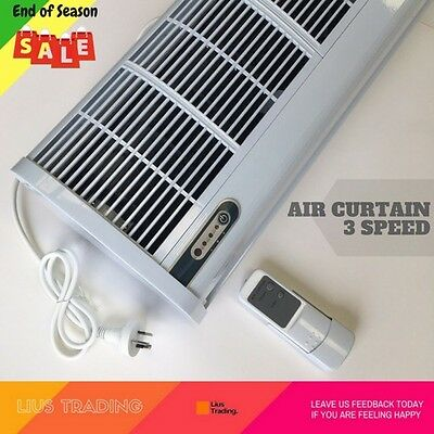 Premium Air Curtain Commercial 1500mm Heavy Duty 3 Speed Remote Control White