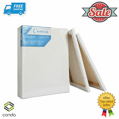 10 x Blank Artist Stretched Canvas Canvases Art Large White Oil Acrylic OZ-Stock