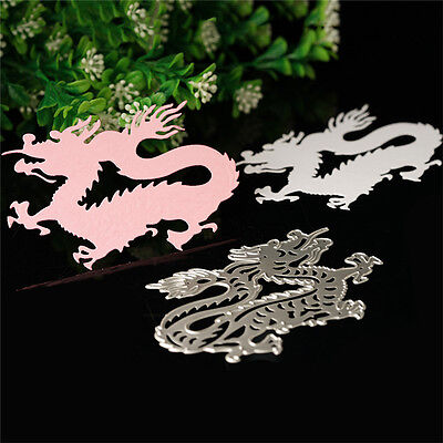 Dragon Metal Cutting Dies Stencil Scrapbook Album Paper Card Embossing DIY Craft