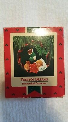 *NEW* Vintage In Box 1987 Treetop Dreams Hallmark Ornament Cute ~FREE SHIPPING~