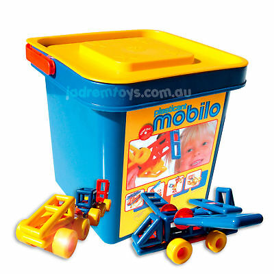 Mobilo Standard Bucket 104pce Educational Building Toy Kids