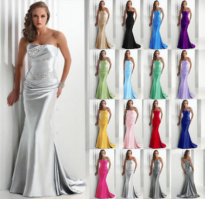 Formal Long Ball Gown Party Prom Evening Dresses Hot Bridesmaid Dress Size 6-20+