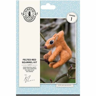 Kirstie Allsopp Felted Red Squirrel Kit Wool Needles Mat Home Decoration Craft