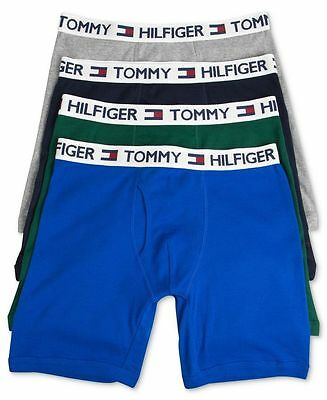 4 X MENS TOMMY HILFIGER COTTON BOXER BRIEF TRUNK SHORT GUY FRONT VERY LOOSE Fit