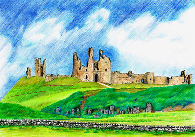 Holy Island  Northumberland Limited Edition Print By Anthony Holt