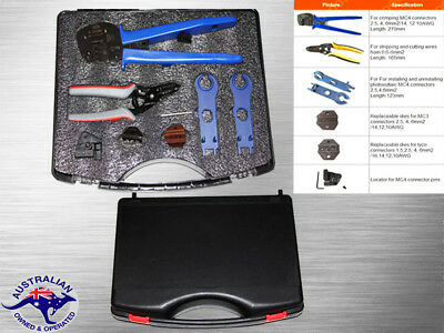 NEW Solar PV Crimping Tools Kit For 2.5-6.0mm2 MC3/MC4/TYCO Stripper Cutter