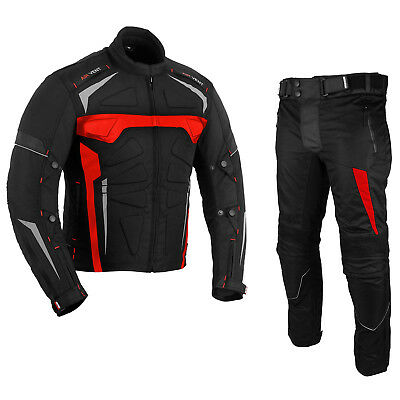 BIKER Waterproof Motorbike Motorcycle 2 piece Riding Suit Jacket Trouser Armours