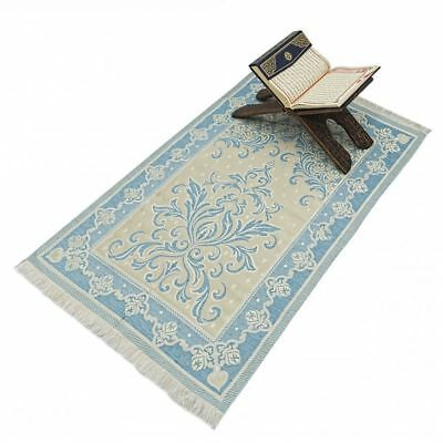 Blue Turkish Islamic Prayer Rug - Salat Musallah Sejadah Carpet Muslim Janamaz