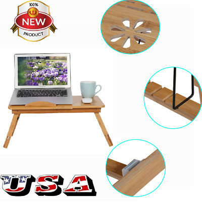 Portable Laptop Desk Lap Table Bed Pad Tray Notebook Foldable Computer Stand US