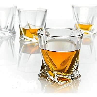 Crystal Quadro Tumblers 340ml Whisky Spirits