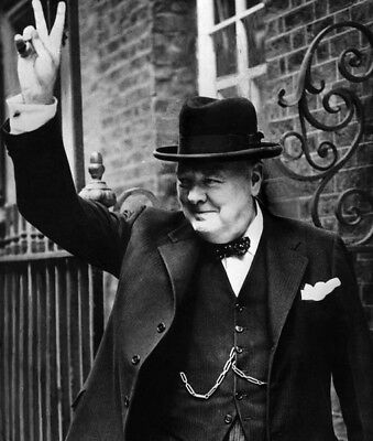 British Prime Minister Winston Churchill photo - K5583 - At 10 Downing Street