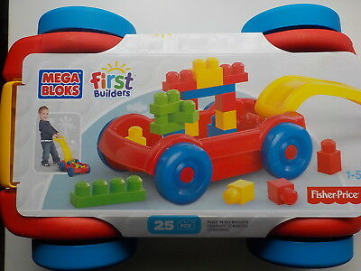 Mega blocks chariot first builders fisher price 25 pieces construire tirer