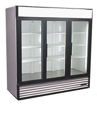 Used Three Glass Door Cooler Merchandiser