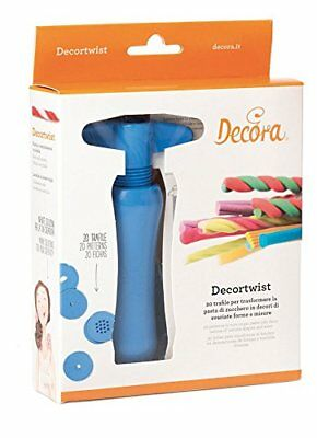 Decortwist con 20 Trafile, Plastica, Blu - DECORA