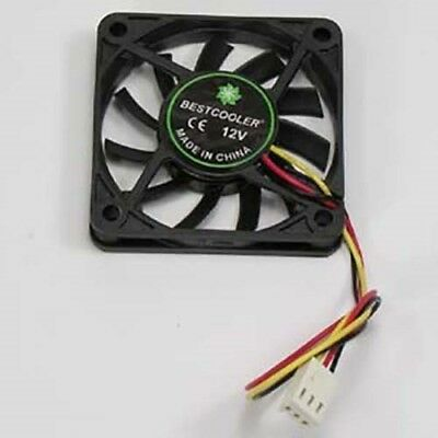 PC CPU Cooling Cooler Fan Ball Bearing 60x60x10mm 12V Brushless 3-Pin 4500RPM