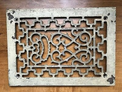 Antique Victorian Cast Iron Floor/wall Grate