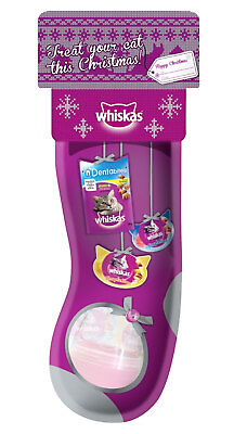 Whiskas Christmas Stocking For Cats Xmas Festive Stocking Filler Treats