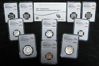 2017-S Enhanced Uncirculated Set - NGC SP70 First Day ANA 10 coin Set