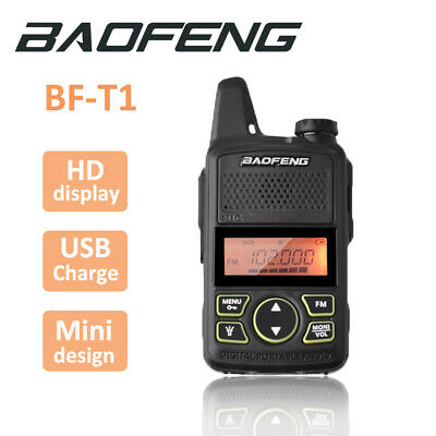 1x Baofeng BF-T1 2 Way Radio UHF400-470Mhz Walkie Talkie Long Range Headset Mini