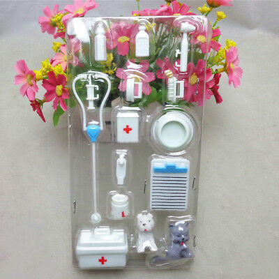 Set of 14pcs Medical Equipment  Doctor Nurse Tools Toys Barbie Doll Accessories