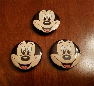 Mickey Mouse Button Covers/Clips Set of 3 Vintage