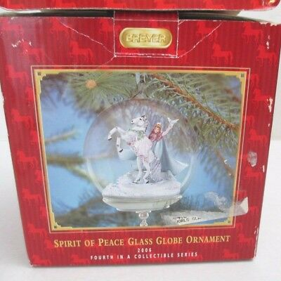 BREYER  Signature Glass Ornament #700406 Steed Angel Dove Spirit of Peace