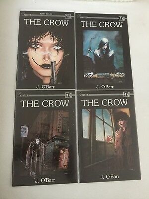 1989 💥htf💥the Crow Caliber Press~Eric Draven Complete Set (1-4)