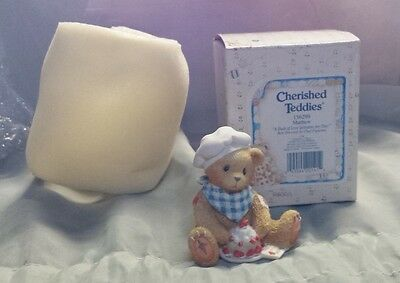 Cherished Teddies A Dash of Love Sweetens Any Day Matthew Chef Figurine 156299