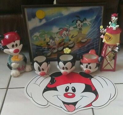Animaniacs Warner Bros mugs piggy coin Bank water tower puzzle rare collectibles