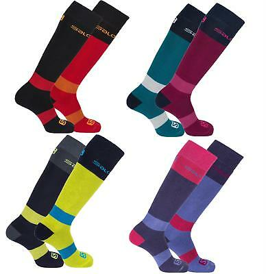 Salomon All Round Ski Sock 2 Pack Adults Winter Socks Two Pairs