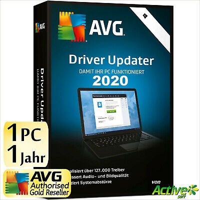 AVG Driver Updater 2019 1 PC 1 Jahr | VOLLVERSION / Upgrade | Treiber DE-Lizenz