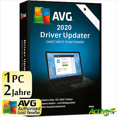 AVG Driver Updater 2019 1 PC 2 Jahre | VOLLVERSION/Upgrade | NEU DE-Lizenz