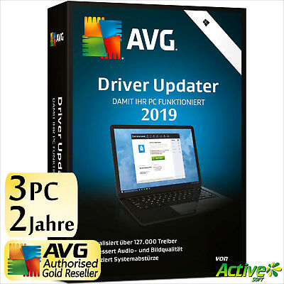 AVG Driver Updater 2019 3 PC 2 Jahre | VOLLVERSION/Upgrade | NEU DE-Lizenz