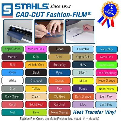 Stahls Mix & Match Heat Transfer Vinyl for T-Shirt Silhouette Cameo Cricut HTV