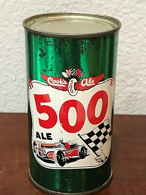 Cook's 500 Ale Flat Top Beer Can