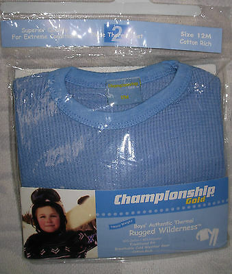 New Quality Light Blue Size 12 Months Boys Thermal Underwear Set Long Johns