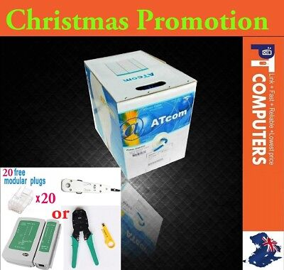 **Christmas Promo* ATcom 305m Cat6 UTP Solid Ethernet LAN Network Cable Roll Box