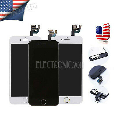 For iPhone 6 6s Complete LCD Digitizer Touch Screen Replacement + Home Button