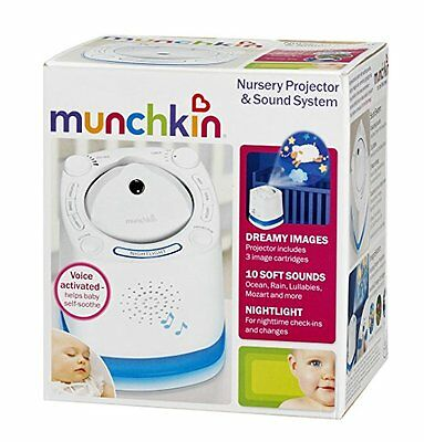 MUNCHKIN NURSERY PROJECTOR AND SOUND SYSTEM -*just sound Projector doesn't work