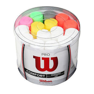 Wilson Pro Tennis Racquet Overgrip Bucket Assorted x 60 Grips