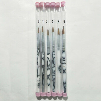 6Pcs Dental Oral Finest Porcelain Ermine Brush Pen Set Dentist Lab Equipment UDW