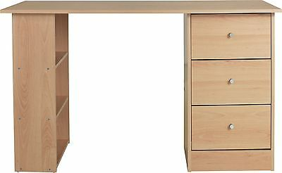 New Malibu 3 Drawer Dressing Table - Beech Effect.